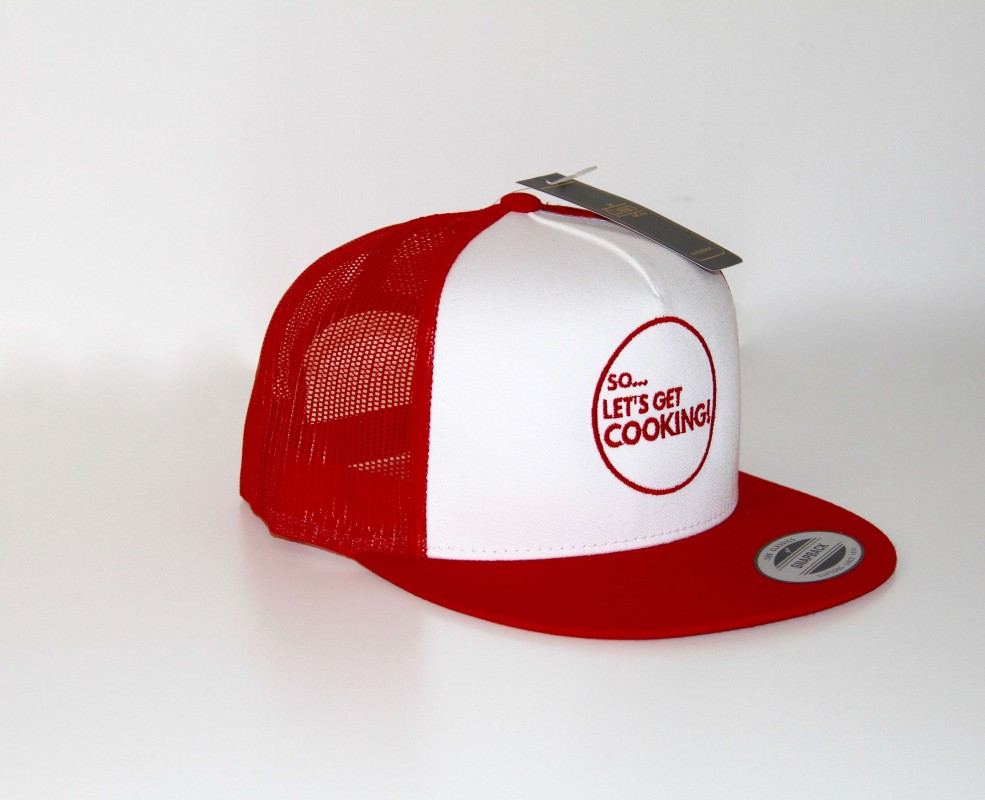 RED & WHITE CAP -SO LET'S GET COOKING