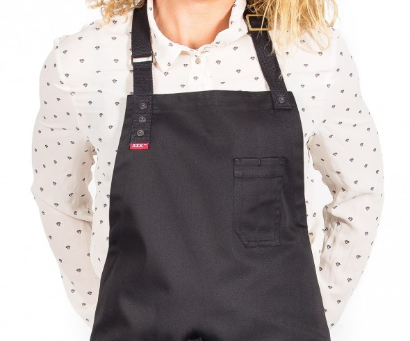 Black bib apron for chefs and bartenders