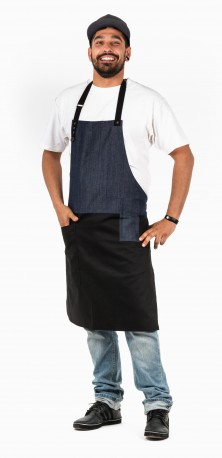 SYMBIOSE -BLACK & DENIM apron