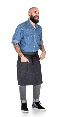 Denim apron for restaurant