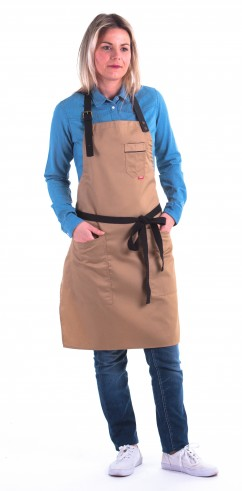 Beige apron w/ leather ARENA