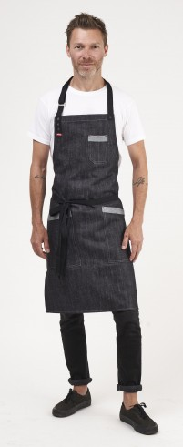 Blue denim apron for chef