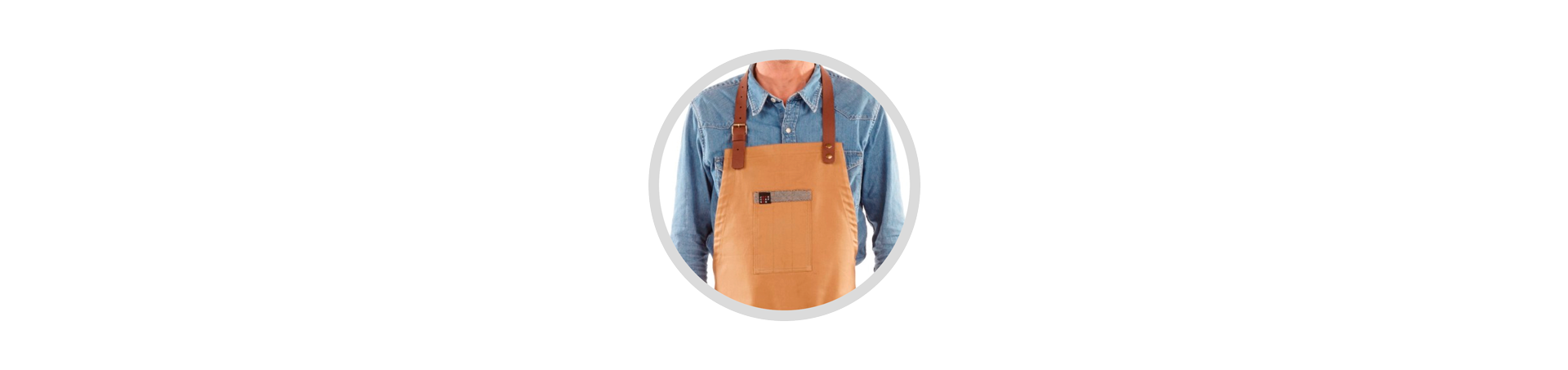 Leather strap apron